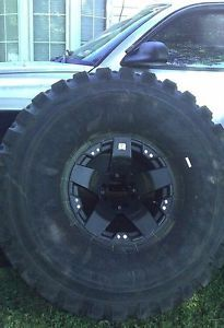52 inch Tires Monster Truck Military Tires KMC Rockstars 20 inch Rims