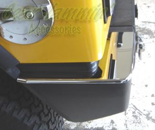 Hummer H2 Chrome Rear Bumper Caps Trim Covers Molding