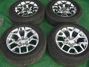 "2014 GMC Sierra Denali 1500 Factory Chrome 20"" Wheels Goodyear Tires Set 14"