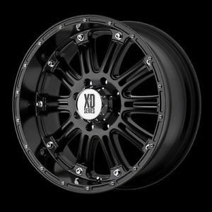 "18"" XD Hoss Gloss Black Wheels Rims 305 60R18 Nitto Terra Grappler at Tires"