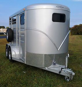 Brand New 2014 Gorgeous 2 Horse Trailer Slant Load