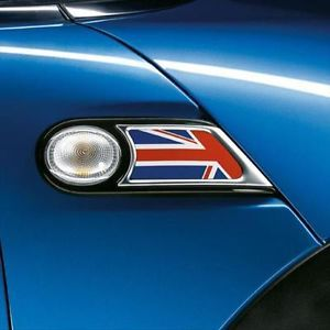 Mini Cooper Coupe Roadster Union Jack Side Trim Scuttles Set New