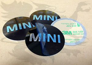 New Genuine Mini Cooper Wheel Center Cap Emblem Sticker x4 36136758687