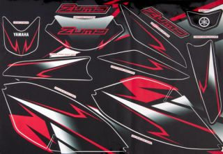 Yamaha Zuma 50F Scooter 2012 Custom Graphic Kits Red