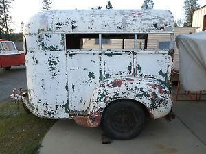 1940's 1950's Vintage Antique Retro Classic 2 Horse Trailer Very RARE Aluminum