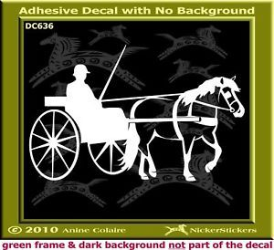 Haflinger Horse Driving Trailer Decal Sticker 636