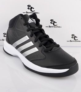 Adidas Isolation Mens Basketball Shoes Black White Silver New