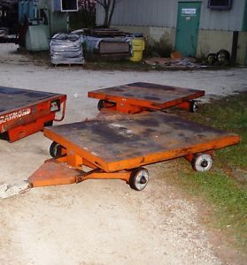 2X Nutting 4 Wheel Flatbed Trailers w 4 Wheel Steering Trailer Hitch Connector