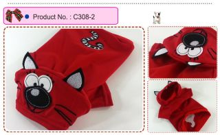 Dog Cat Clothes Hoodie Jacket Lynx Costume Coats C308