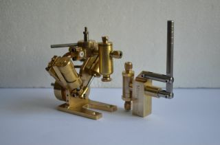 Twin Cylinder Marine Steam Engine Model Live Steam Engine Water Pump M8 2 Sets