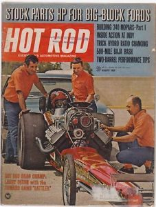Hot Rod Magazine August 1969 Fair Condition