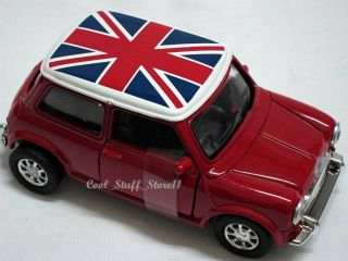 Mini Cooper 1959 Union Jack Rooftop w Functional Doors New Ray Die Cast 1 32