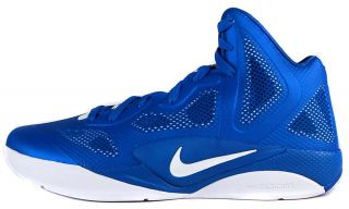 Nike Zoom Hyperfuse 2011 TB Sz 8 Mens Basketball Shoes Blue White