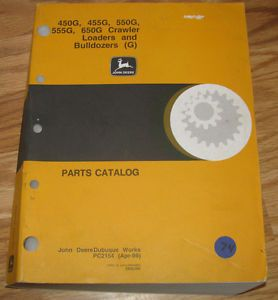 John Deere 650G 555G 550G 455G 450G Crawler Tractor Loader Parts Catalog Manual