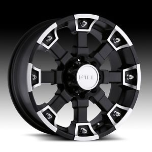 17 inch V Tec Brutal Black Wheels Rims Dodge RAM 1500