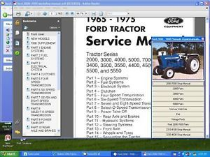 Ford Tractor 2000 7000 Shop Parts Manual 1965 75 M