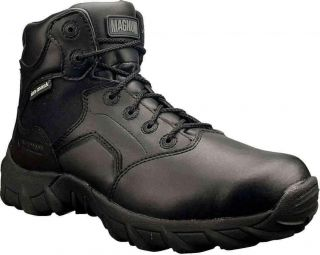 Magnum 5372 Men's Cobra 6 0 WPI Lace Up Black Leather Boots