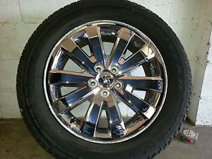 Ford Edge 18 inch Chrome Wheels and Goodyear Tires P235 60 18
