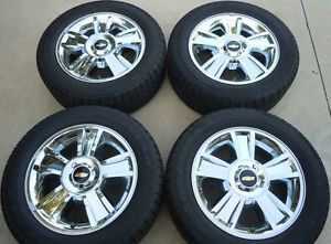 "2013 Silverado 1500 Tahoe LTZ 20"" Factory Wheels Tires Goodyear P275 55R20"