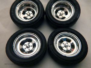 1 24 1 25 Scale Chrome Slotted Ansen Type Wheels and Goodyear Rally GT Tires