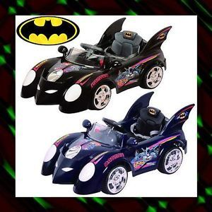 New Batman Batmobile Power Ride on Toy Car 6V 10AH Battery RC Music Sound R C