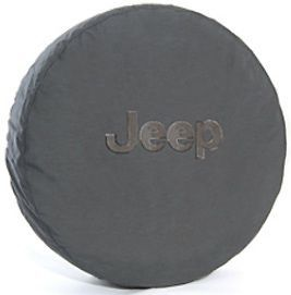 Jeep Spare Tire Cover Deluxe Anti Theft Gray Jeep Logo Mopar New 82209962AC