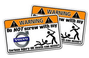 Volvo Warning Sticker Semi Tractor Trailer Big Truck