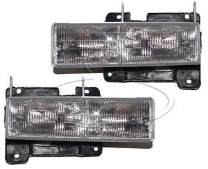 New Replacement Headlight Assembly Pair for Chevrolet GMC C K Truck SUV