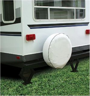 "RV Spare Tire Cover Vinyl Beige camper Trailer motorhome 27"" Diameter New"