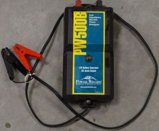 Power Wizard PW500B 12V or 6V Battery Operated Electric Fence Energizer Charger