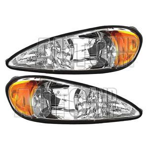 New Pair Set Headlight Headlamp Lens Housing Assembly Dot 99 05 Pontiac Grand Am