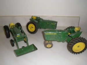 Vintage Lot of 3 John Deere Toy Farm Tractor Restore or Parts