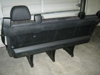 08 12 Mercedes Dodge Sprinter 4 Passenger Leather Vinyl Black Bench Parts Seat