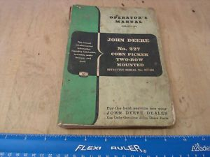 John Deere No 227 Mounted Corn Picker Operator Parts