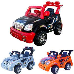 New Kids Ride on Car 6V 10AH Battery Power Electric Remote Control Car Wheels RC