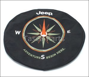 "Brand New Mopar Spare Tire Cover 01 12 Jeep Wrangler 17"" Wheels 82210884AB"