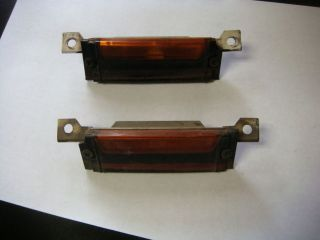 Original 67 68 Ford Mustang Deluxe Hood Turn Signal Light Assembly Pair