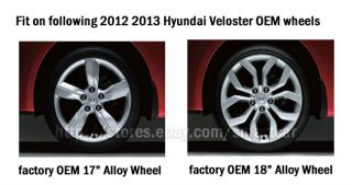 "2012 2013 Hyundai Veloster 17"" 18"" Alloy Wheel Hub Caps Set of 4"