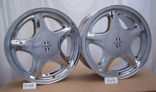 "1979 93 Mustang Pony R Wheels 17x6 5"" 17x9 Chrome"