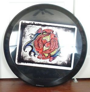 Incubus Fish Happy Lucky Yin Yang Koi Art Jeep Liberty Spare Tire Cover 16""