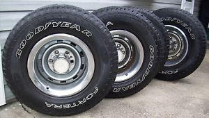 Chevrolet Truck Rally Wheels and Tires 15 x 8 6 Lug