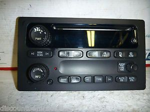 03 05 Chevrolet GMC Tahoe Silverado SSR Radio CD Face Control Panel 10359576