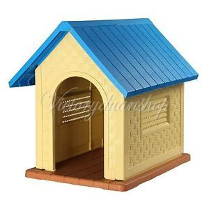Durable Resin All Weather Large Outdoor Garden Pet Doggie Dog Puppy Cats House