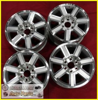 "07 08 09 10 11 12 Cadillac Escalade ESV Ext 18"" Machined Silver Wheels 5303"