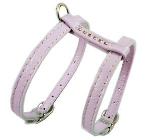 "10"" 13"" Real Leather Harness Rhinestone Small Dog"