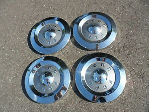 1957 1958 Ford Custom 300 Dog Dish Hubcaps