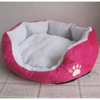 Indoor Soft Warm Pet Puppy Dog Bed House Small Pink Red Color