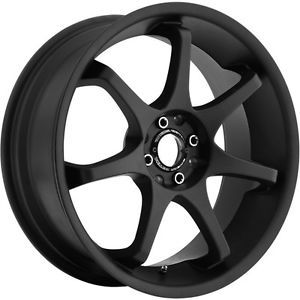 16 inch Motegi MR125 Black Wheels Rims 5x4 5 is350 Town Car Mazda 3 5 6 626 929