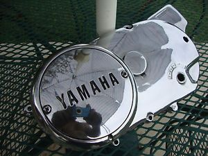Yamaha XS650 XS 650 Polished Left Side Engine Cover Chopper Bobber