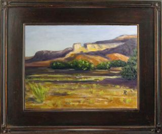 "Tatiana Myers Art Original Oil Painting ""Shadows of Desert"" Western Mountains"
